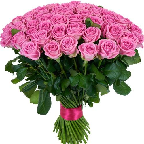 Купить на заказ Букет из 101 розовой розы с доставкой в Актобе